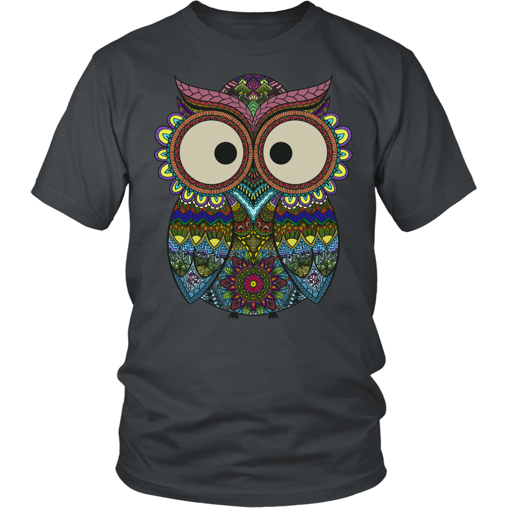 Owl Color - Trendy Gear-District Unisex Shirt / Charcoal / S-T-shirt - 3