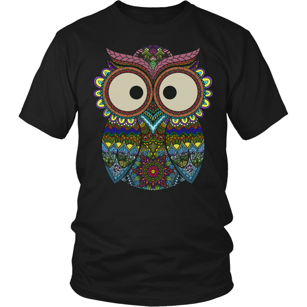 Owl Color - Trendy Gear-District Unisex Shirt / Black / S-T-shirt - 4