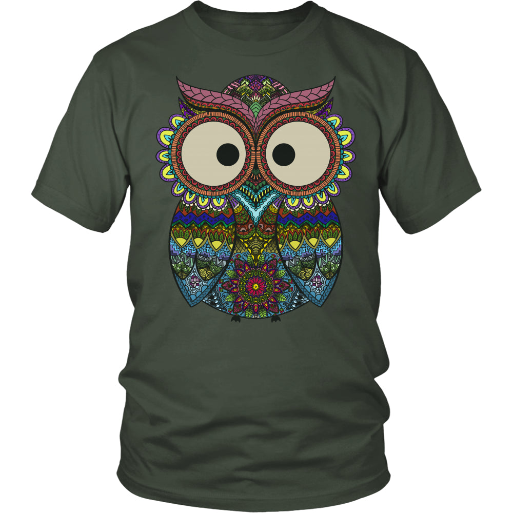 Owl Color - Trendy Gear-District Unisex Shirt / Olive / S-T-shirt - 5