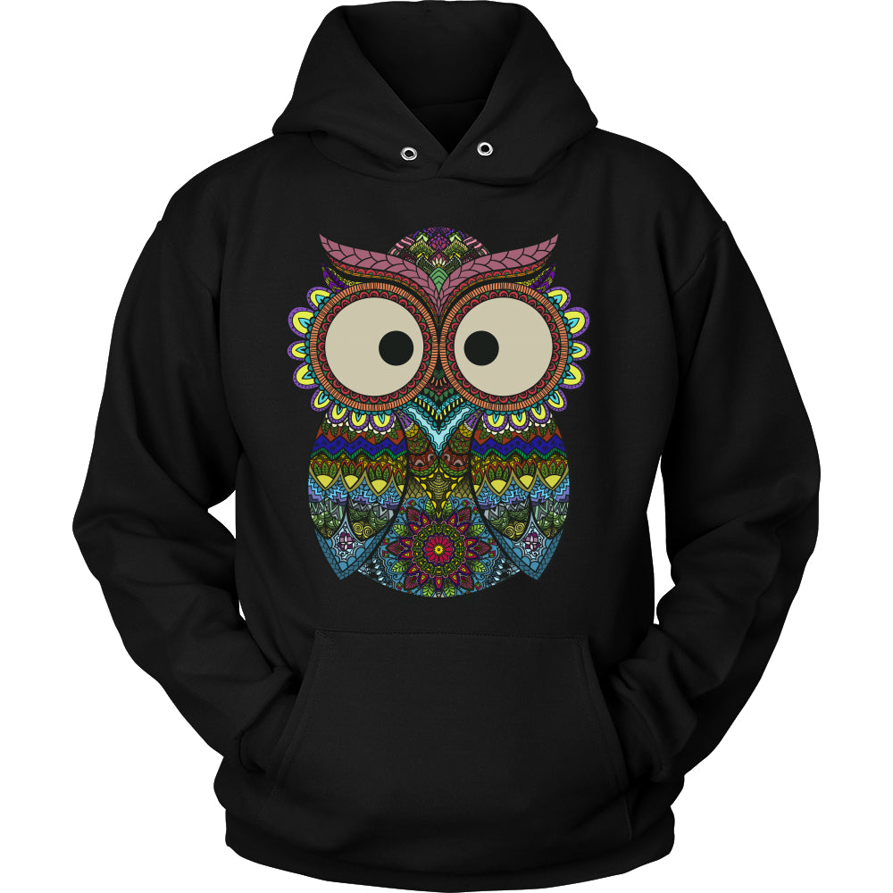 Owl Color - Trendy Gear-Hoodie / Black / S-T-shirt - 9