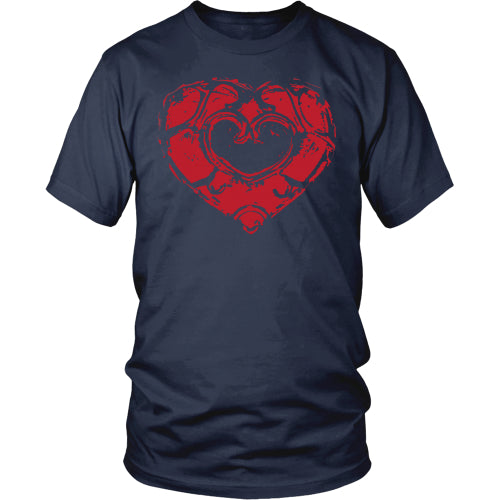 Skyward Heart - Trendy Gear-District Mens Shirt / Navy / S-T-shirt - 1