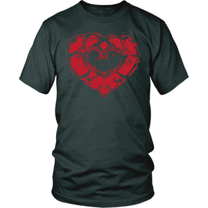 Skyward Heart - Trendy Gear-District Mens Shirt / Dark Green / S-T-shirt - 2