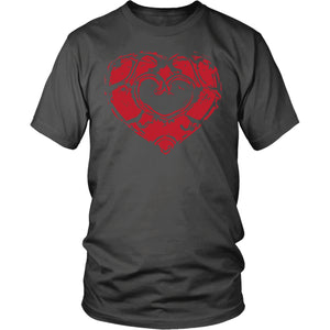 Skyward Heart - Trendy Gear-District Mens Shirt / Charcoal / S-T-shirt - 3
