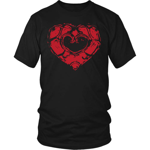 Skyward Heart - Trendy Gear-District Mens Shirt / Black / S-T-shirt - 4