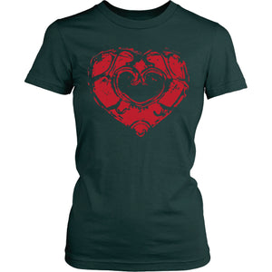 Skyward Heart - Trendy Gear-District Womens Shirt / Dark Green / S-T-shirt - 8