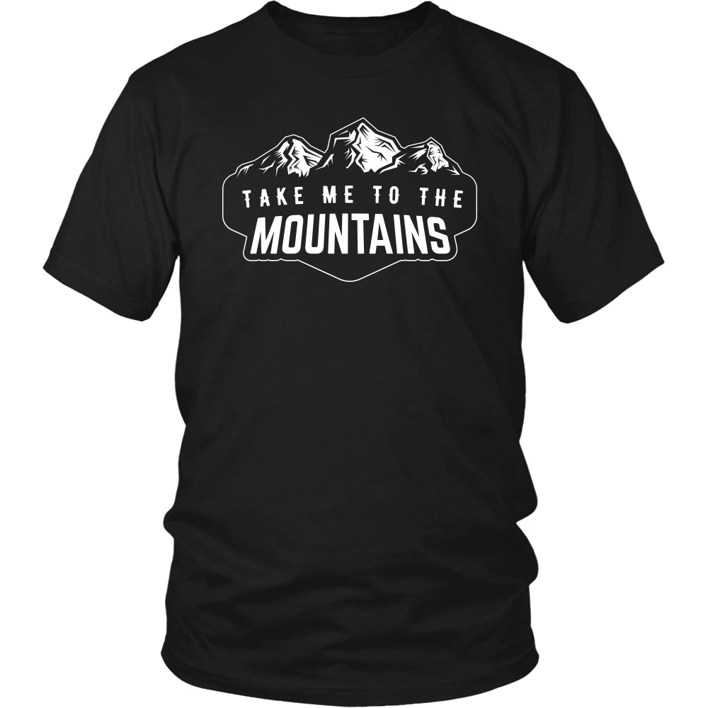 Take Me To The Mountain - Trendy Gear-District Unisex Shirt / Black / S-T-shirt - 1
