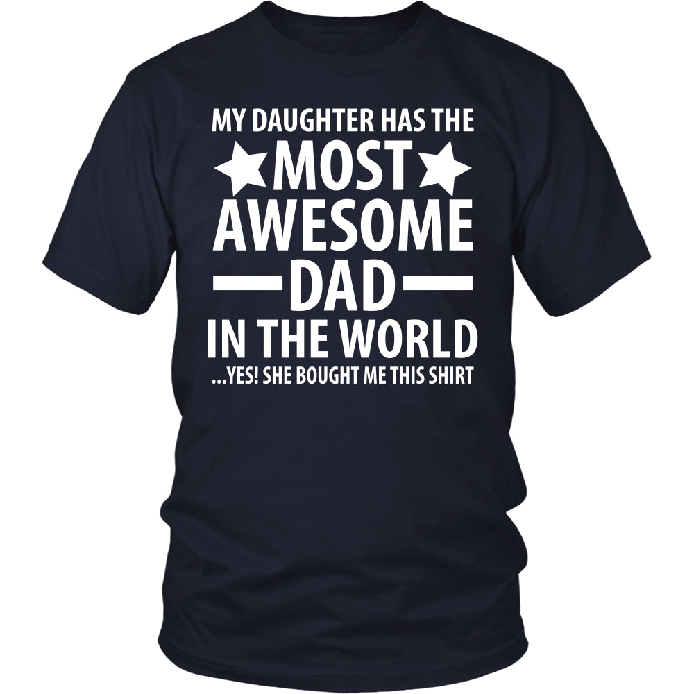 The Most Awesome Dad - Trendy Gear-District Unisex Shirt / Navy / S-T-shirt - 2