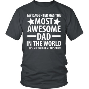 The Most Awesome Dad - Trendy Gear-District Unisex Shirt / Charcoal / S-T-shirt - 4