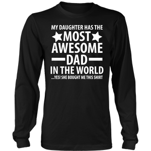 The Most Awesome Dad - Trendy Gear-District Long Sleeve / Black / S-T-shirt - 8
