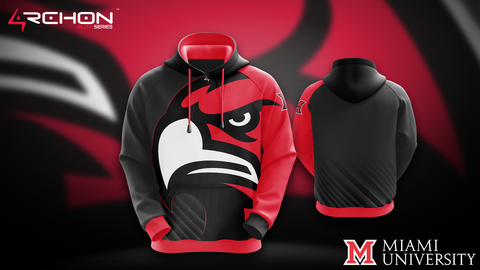 University of Miami Ohio Esports - Pullover Hoodie - Archon Clothing @Nexxiaa
