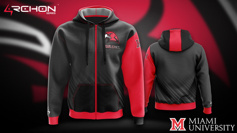 University of Miami Ohio Esports - Zip Hoodie - Archon Clothing @Nexxiaa
