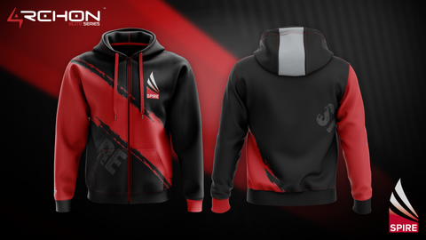 Vector Gaming (SPIRE) Esports - Zip Hoodie Black - Archon Clothing @AllenMcCoyDesigns