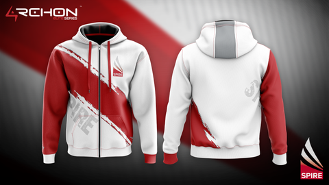 Vector Gaming (SPIRE) Esports - Zip Hoodie White - Archon Clothing @AllenMcCoyDesigns