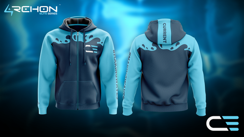 Current Esports - Zip Hoodie - Archon Clothing @AllenMcCoyDesigns