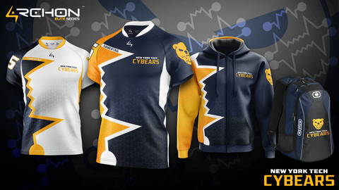 NYIT Cybears Esports - Elite Jersey, Zip Hoodie, Backpack - Archon Clothing @Nexxiaa