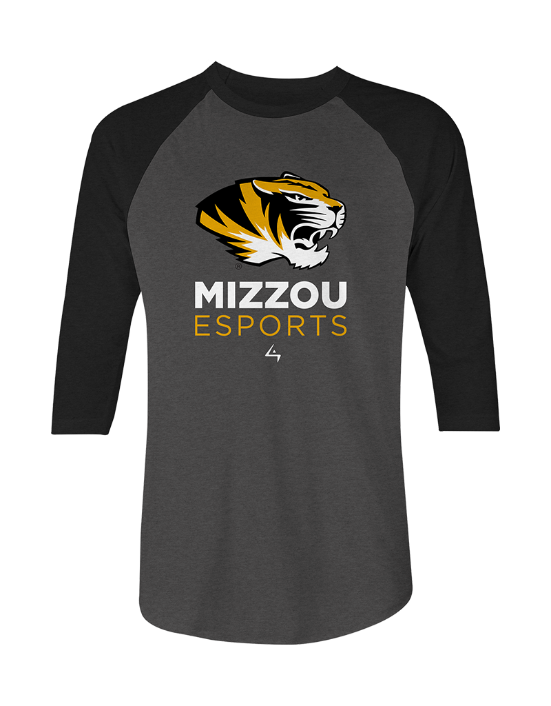 Mizzou Esports - Raglan Team Shirt - Gray