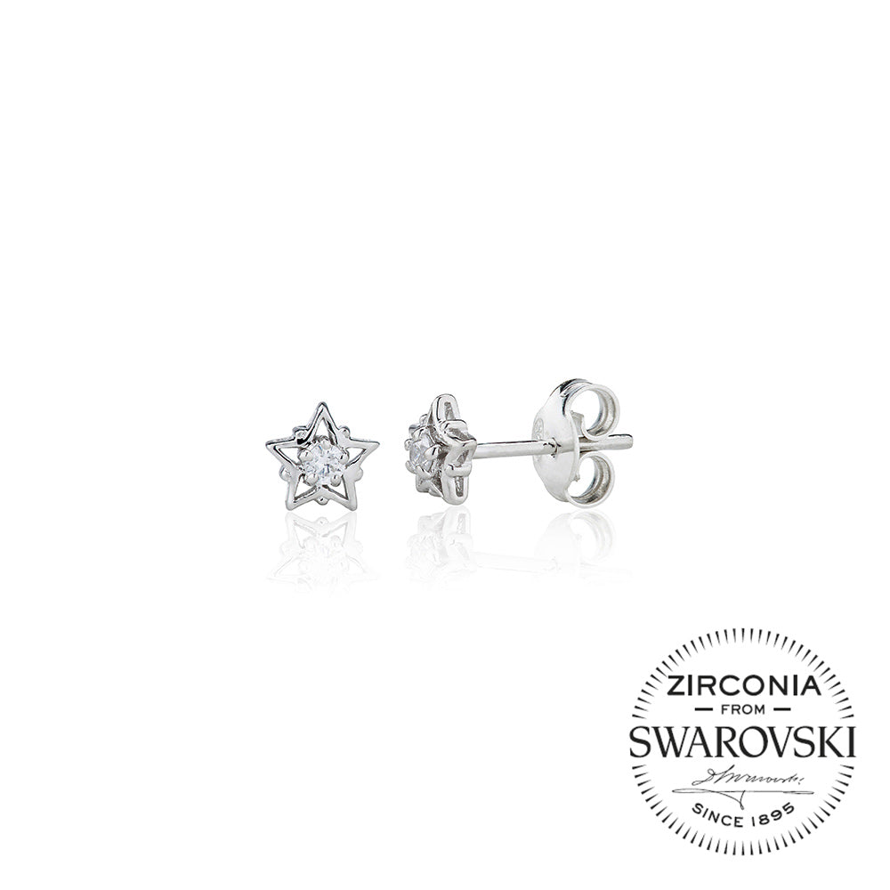 f2698e86bc39e Single Stone Stud Earrings in Star Mount (0.10ct)