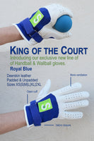 King of the Court Royal Blue  922 Padded - New York Handball Store Corp
