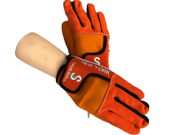 King of the Court Pro Orange Gloves Unpadded - New York Handball Store Corp