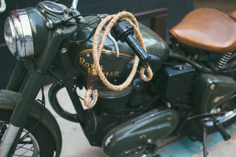 Moto Cable Lock Brown