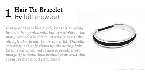 Cheerful Chic 2015 Holiday Gift Guide - Hair Tie Bracelet by Bittersweet