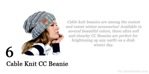 Cheerful Chic 2015 Holiday Gift Guide - Cable Knit CC Beanies