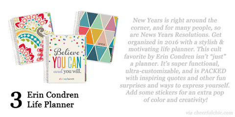 Cheerful Chic 2015 Holiday Gift Guide - Erin Condren Life Planner