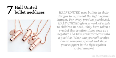 Cheerful Chic 2015 Holiday Gift Guide - Half United bullet necklace