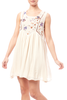 Embroidered Sleeveless Swing Dress