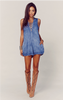 Lace Up Indie Romper