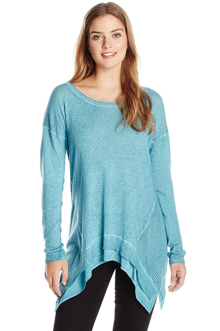 Teal Woven Sweater