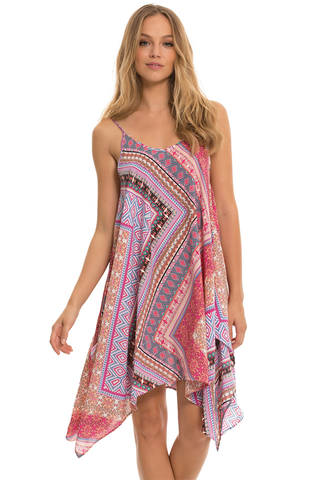Spaghetti Strap Kaftan Dress