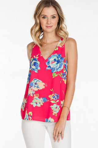 Floral Woven Tank