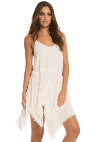 Tattered Spaghetti Strap Slip Dress