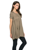 Front Pocket Babydoll Tunic