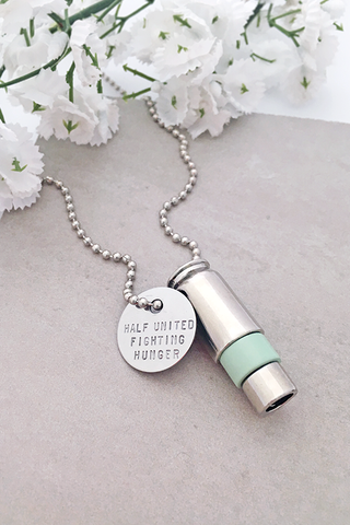 Half United Silver & Mint Bullet Necklace
