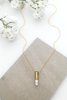 Half United White Natural Stone Necklace