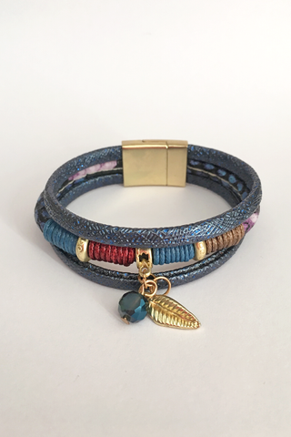 Handmade Leather Wrap Bracelet