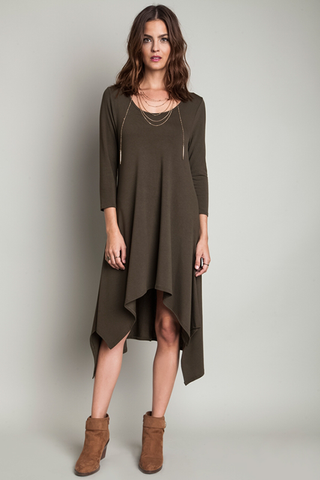 High Low Knit Dress