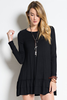 Long Sleeve Ruffle Trim Tunic