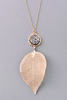 Metallic Leaf Pendant Necklace