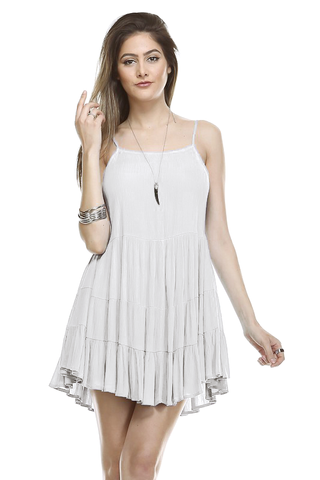 Canon Tiered Lace Up Dress