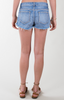 Carolina Lace Embellished Denim Shorts