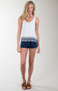 Coyote Navy Blue Printed Shorts