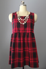 Plaid Babydoll Zip Back Dress