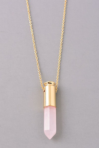 Natural Stone Bullet Necklace