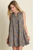 Sleeveless Keyhole Paisley Dress