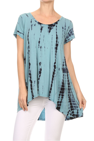 Tie Dye High Low Relaxed Tee
