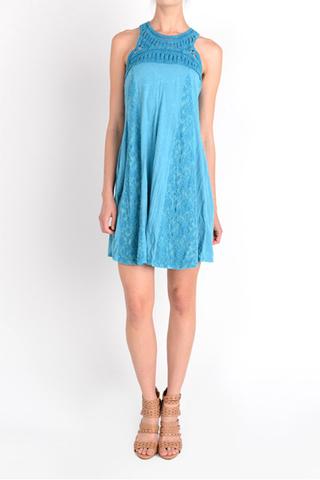 Tie Dye Detailed Lace Dress