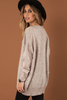 Dance With Wolves Lace-Up Wool Blend Sweater